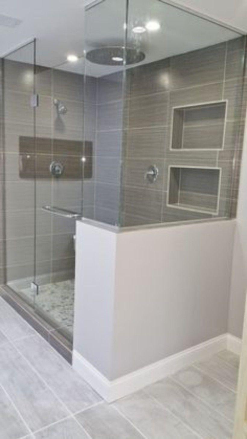 Adorable Master Bathroom Shower Remodel Ideas 16