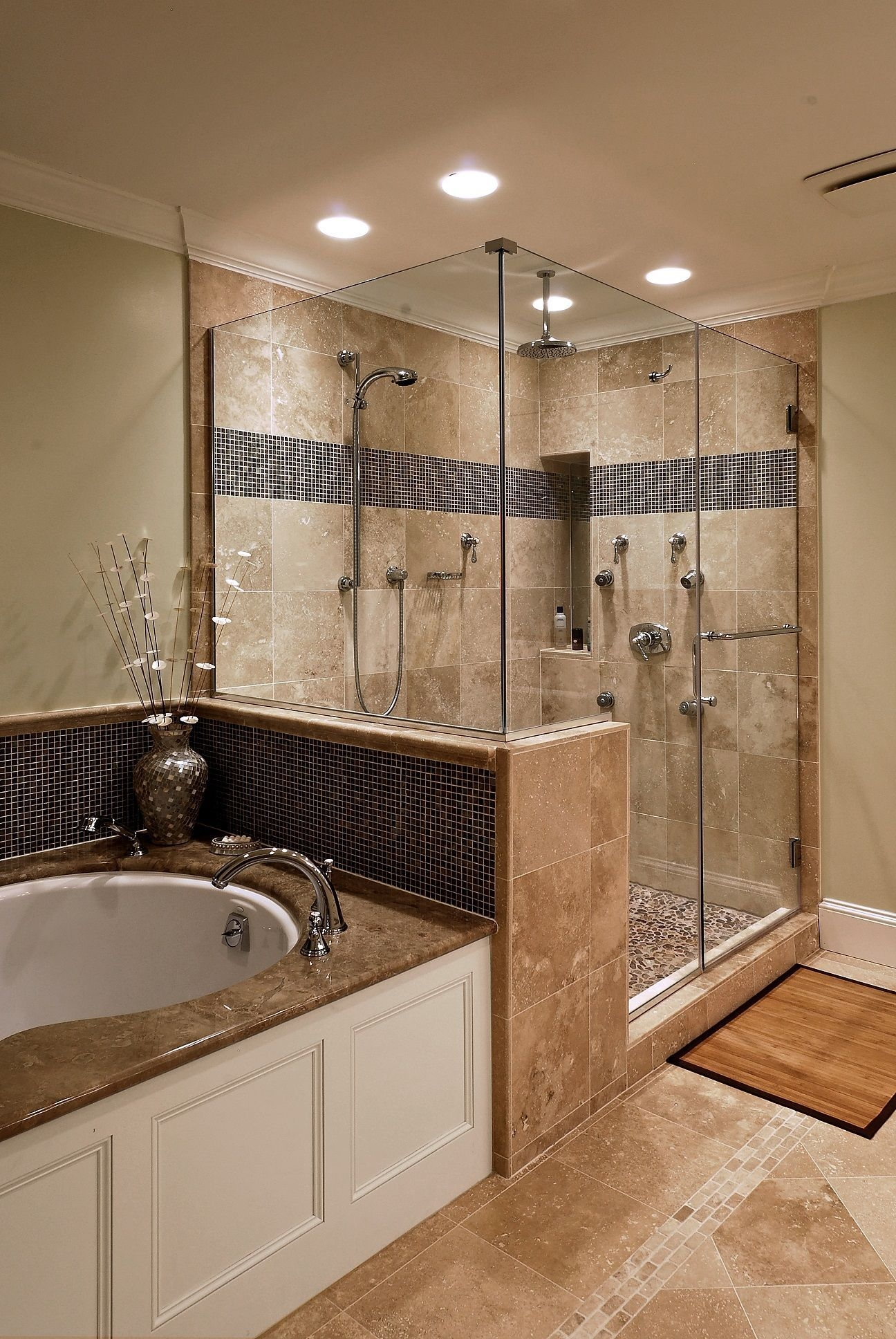 Adorable Master Bathroom Shower Remodel Ideas 37