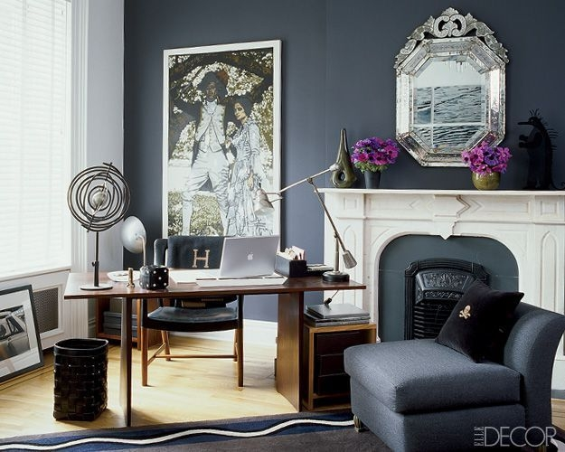 Cozy And Elegant Office Décor Ideas 06