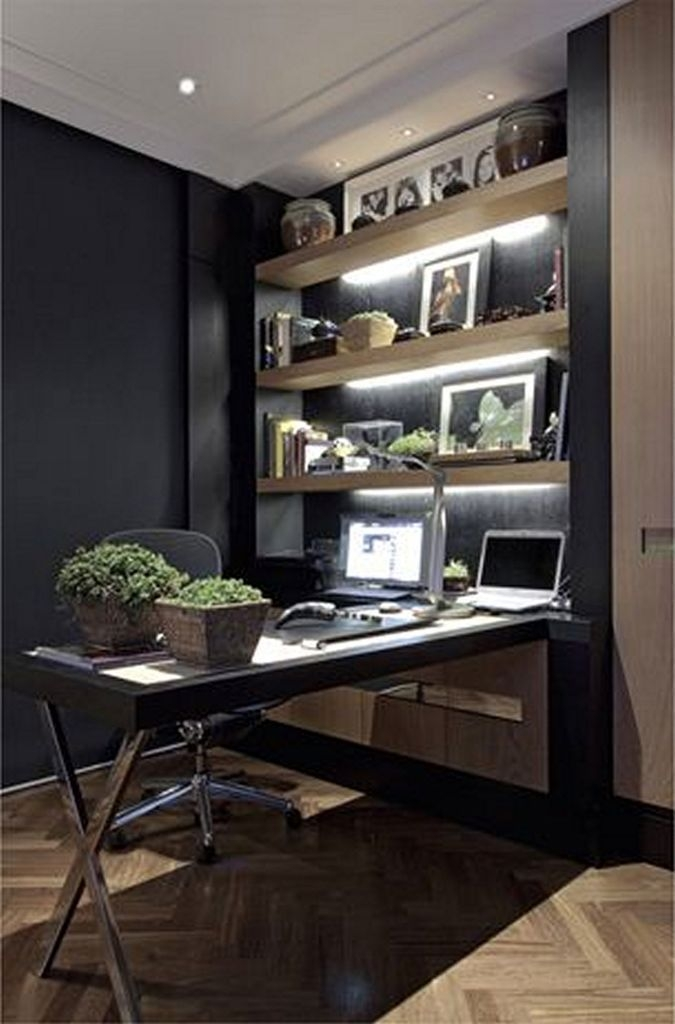 Cozy And Elegant Office Décor Ideas 24