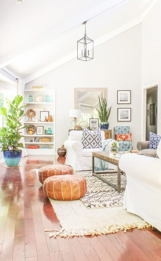 Cozy Bohemian Living Room Design Ideas 13