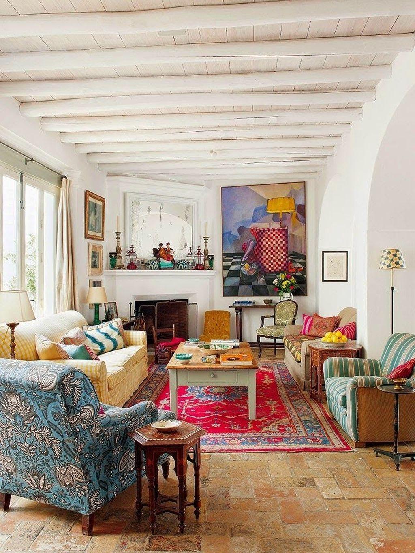 Cozy Bohemian Living Room Design Ideas 41