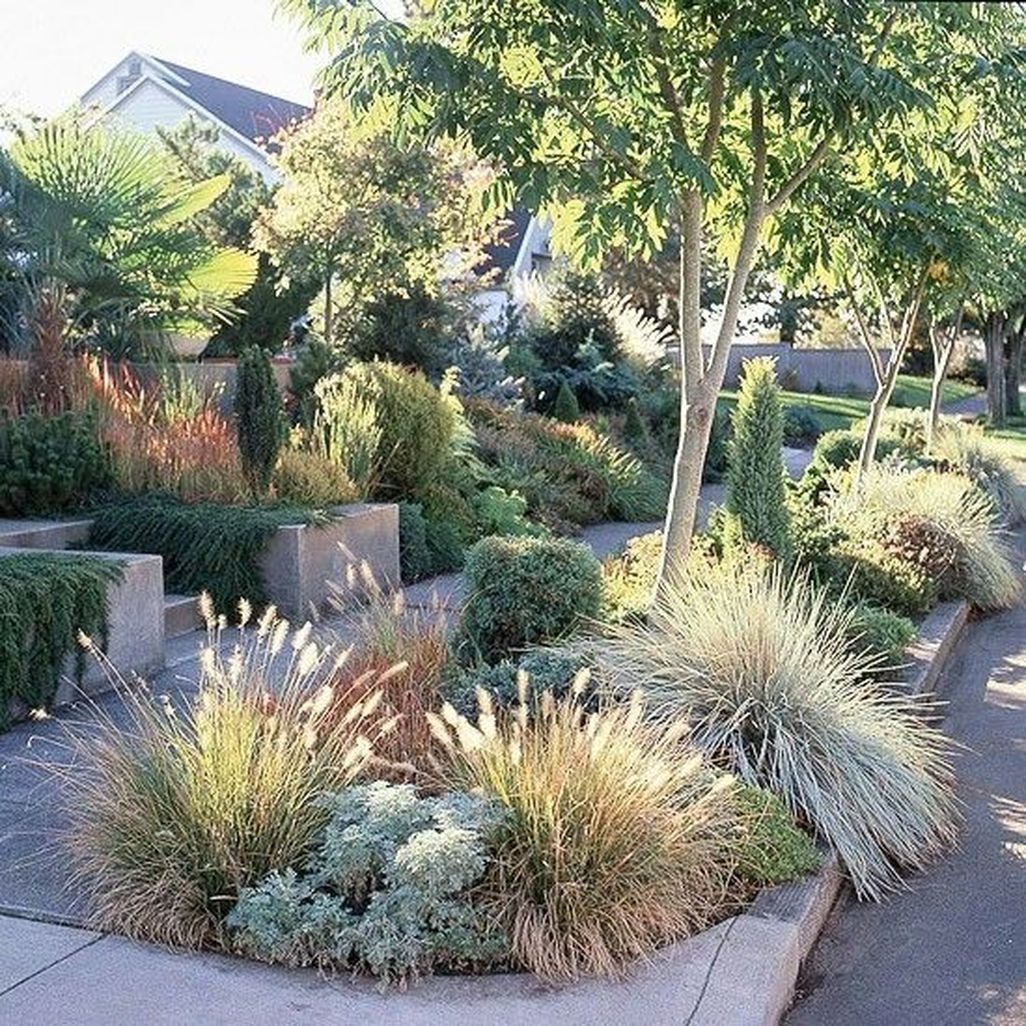 Easy And Low Maintenance Front Yard Landscaping Ideas 08