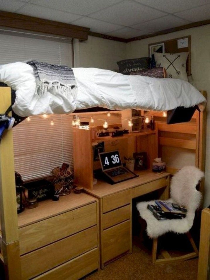 Efficient Dorm Room Organization Decor Ideas 09