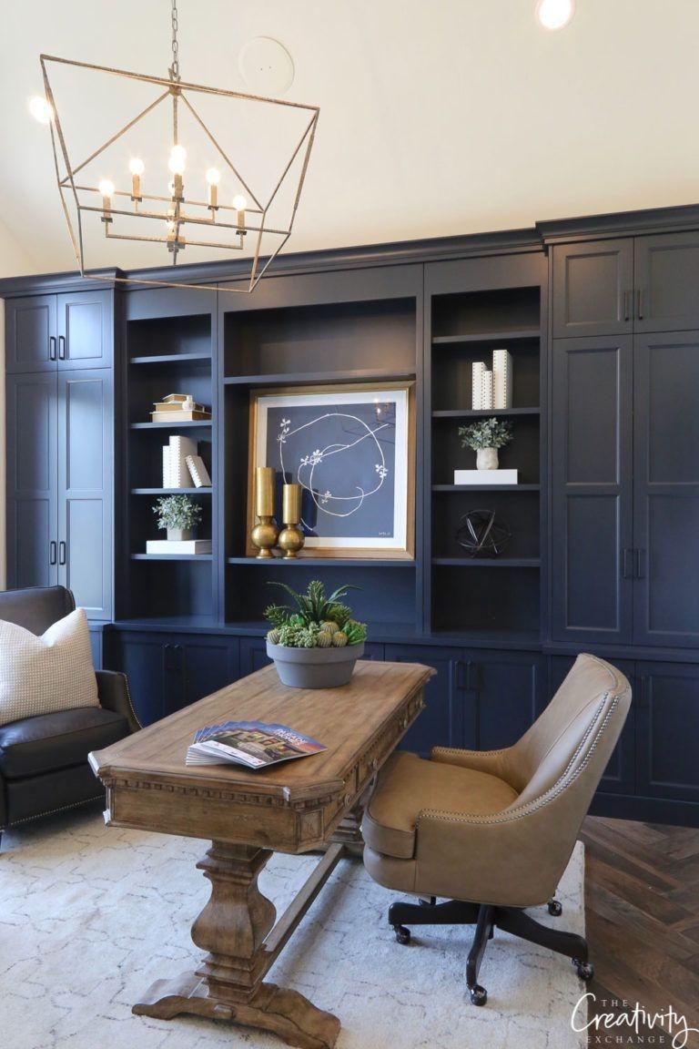 Elegant Blue Office Decor Ideas 04