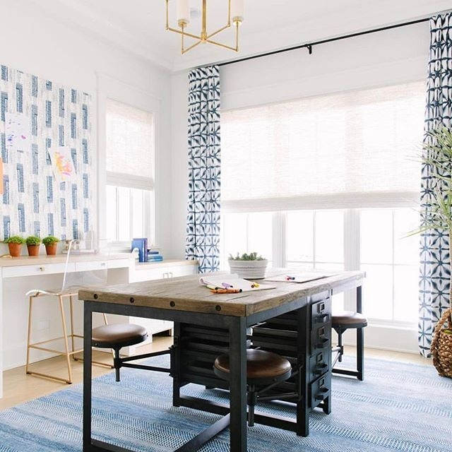 Elegant Blue Office Decor Ideas 05