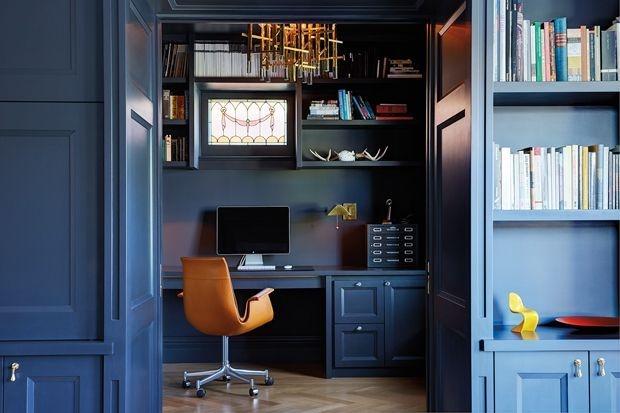 Elegant Blue Office Decor Ideas 24