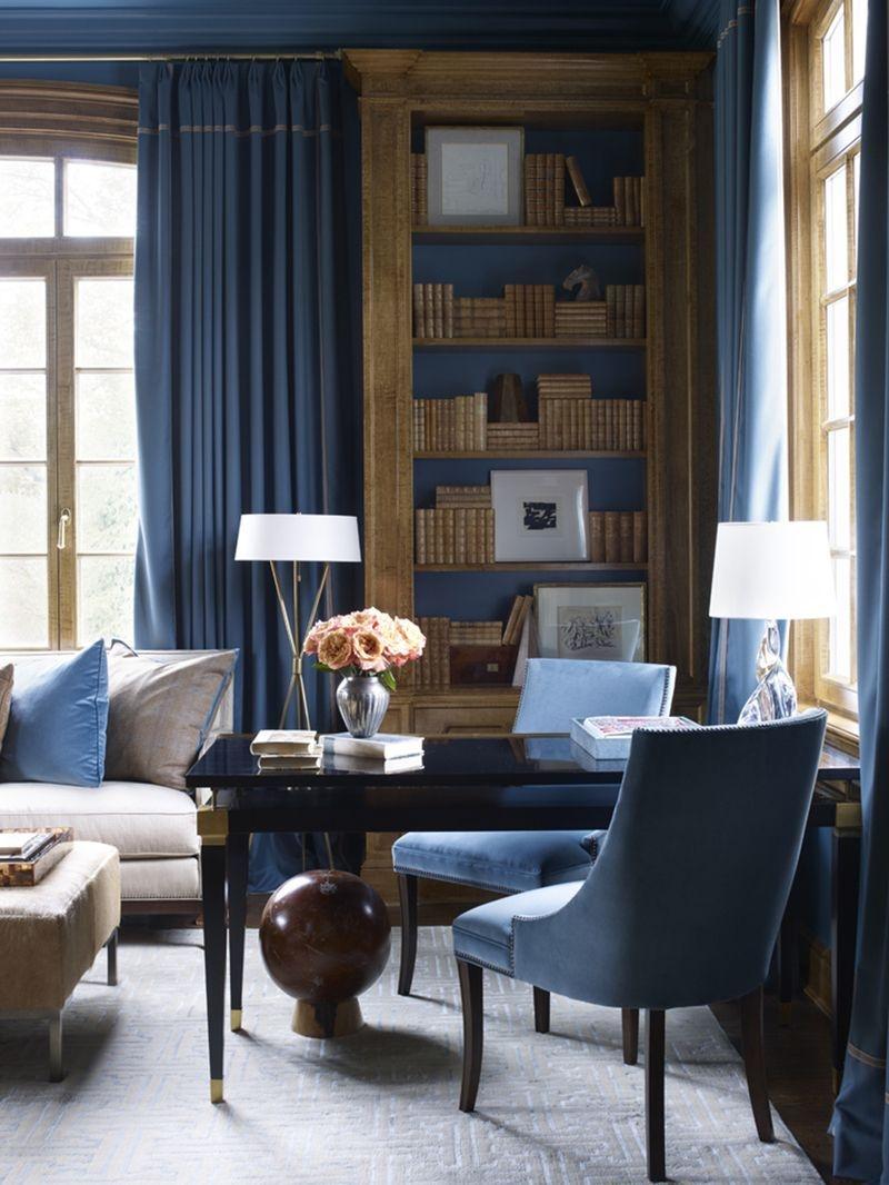 Elegant Blue Office Decor Ideas 30