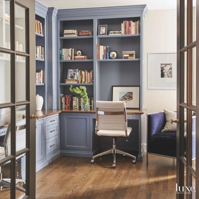 Elegant Blue Office Decor Ideas 31