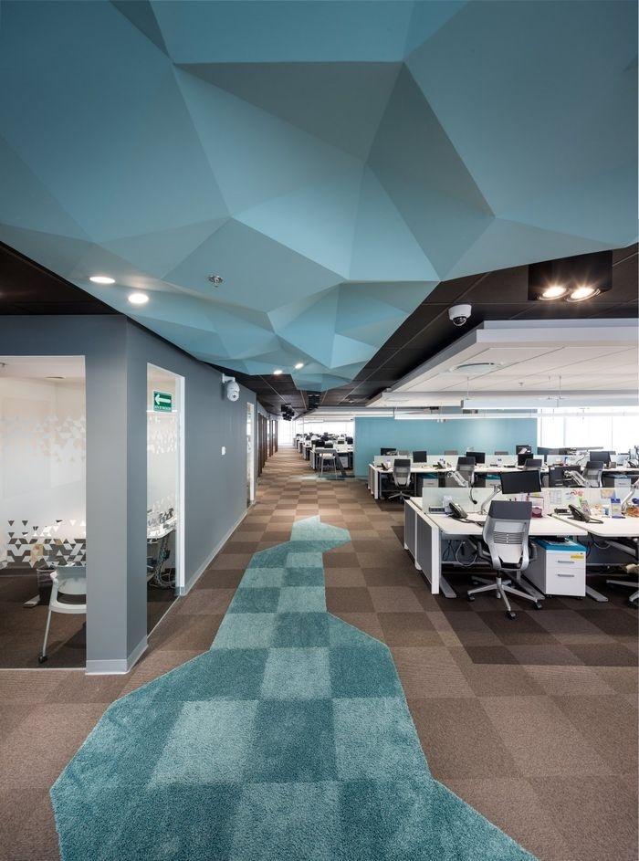 Elegant Blue Office Decor Ideas 36