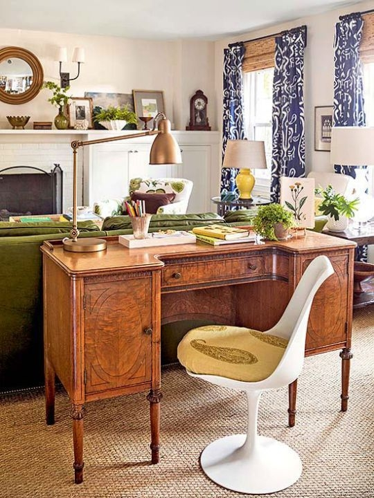 Elegant Blue Office Decor Ideas 37
