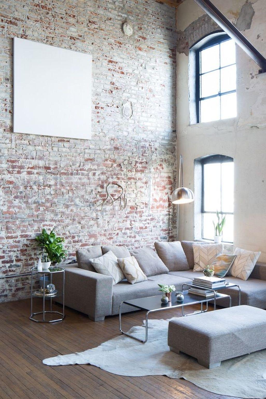 Elegant Exposed Brick Apartment Décor Ideas 08