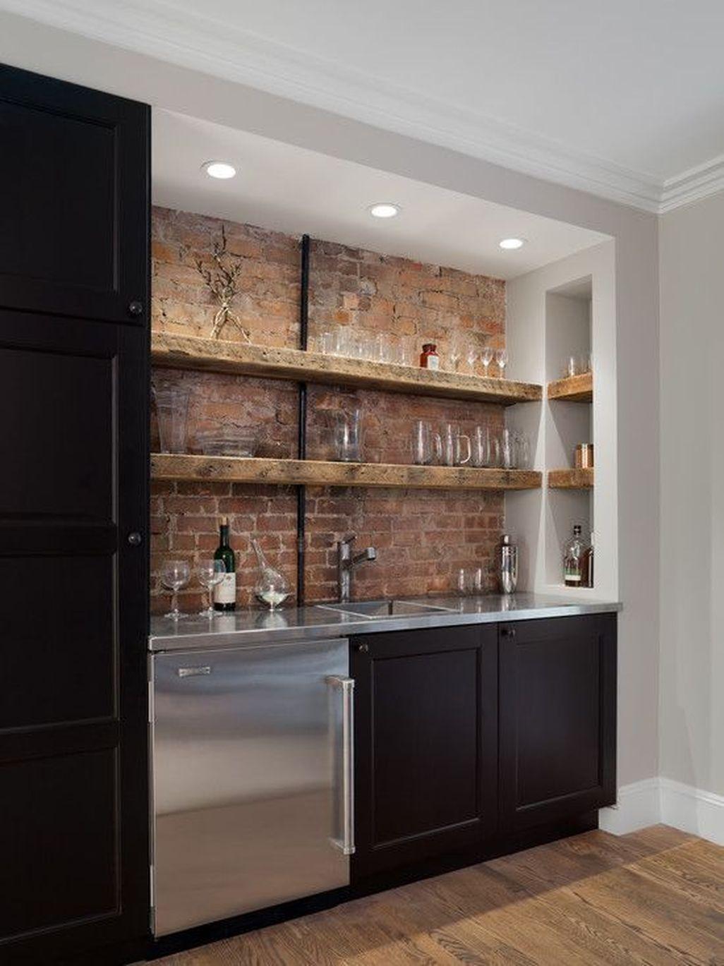 Elegant Exposed Brick Apartment Décor Ideas 10