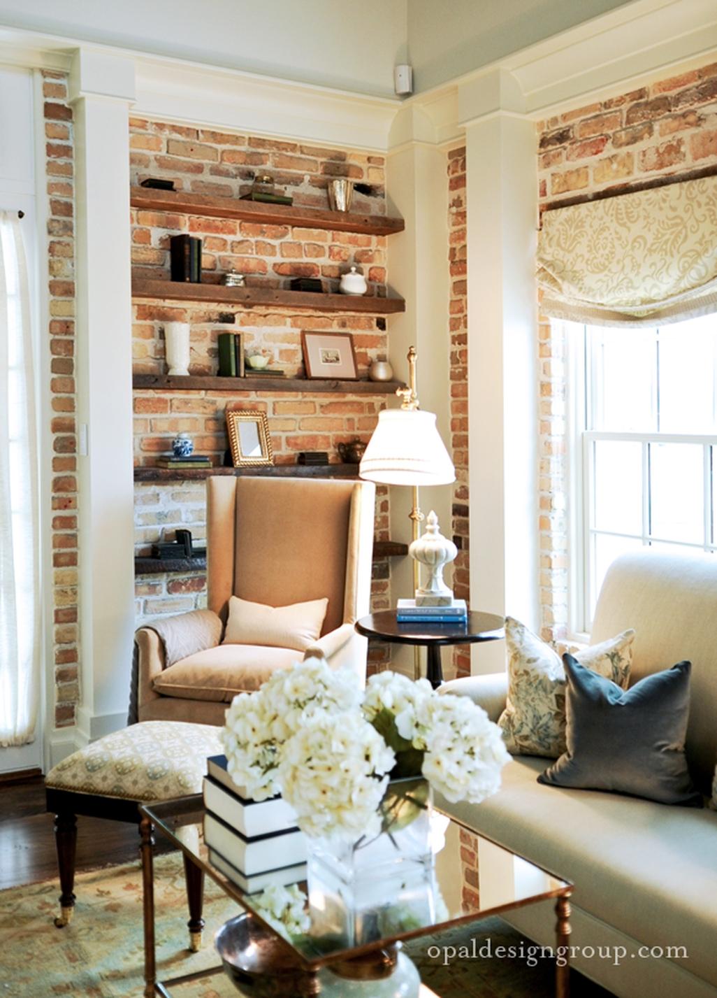 Elegant Exposed Brick Apartment Décor Ideas 13