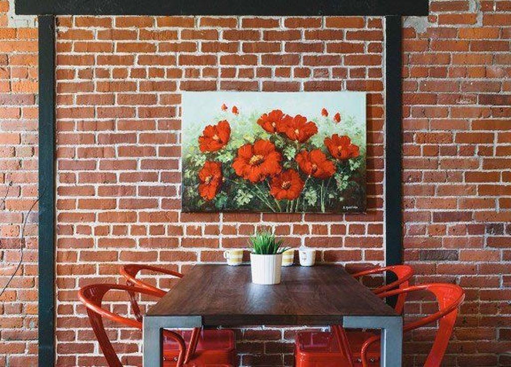 Elegant Exposed Brick Apartment Décor Ideas 18