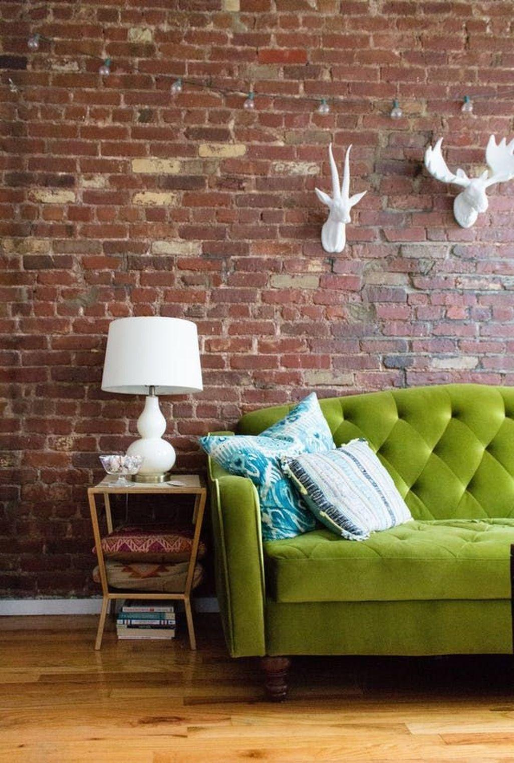 Elegant Exposed Brick Apartment Décor Ideas 36