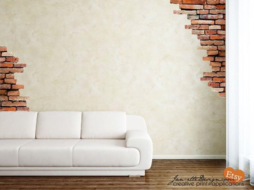 Elegant Exposed Brick Apartment Décor Ideas 37