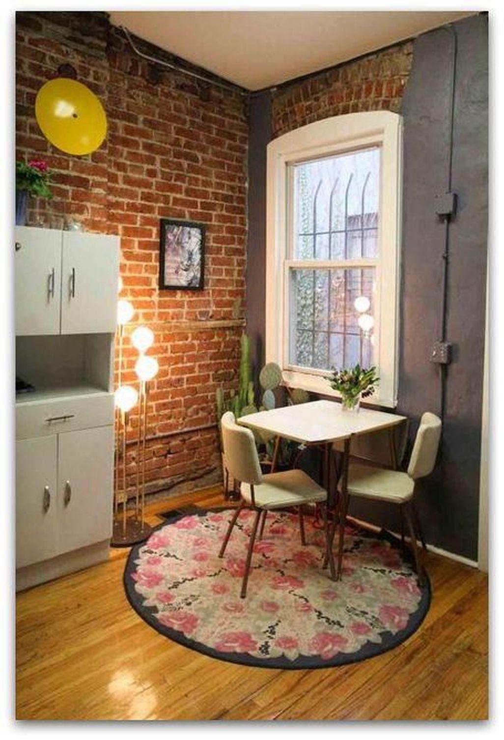 Elegant Exposed Brick Apartment Décor Ideas 46