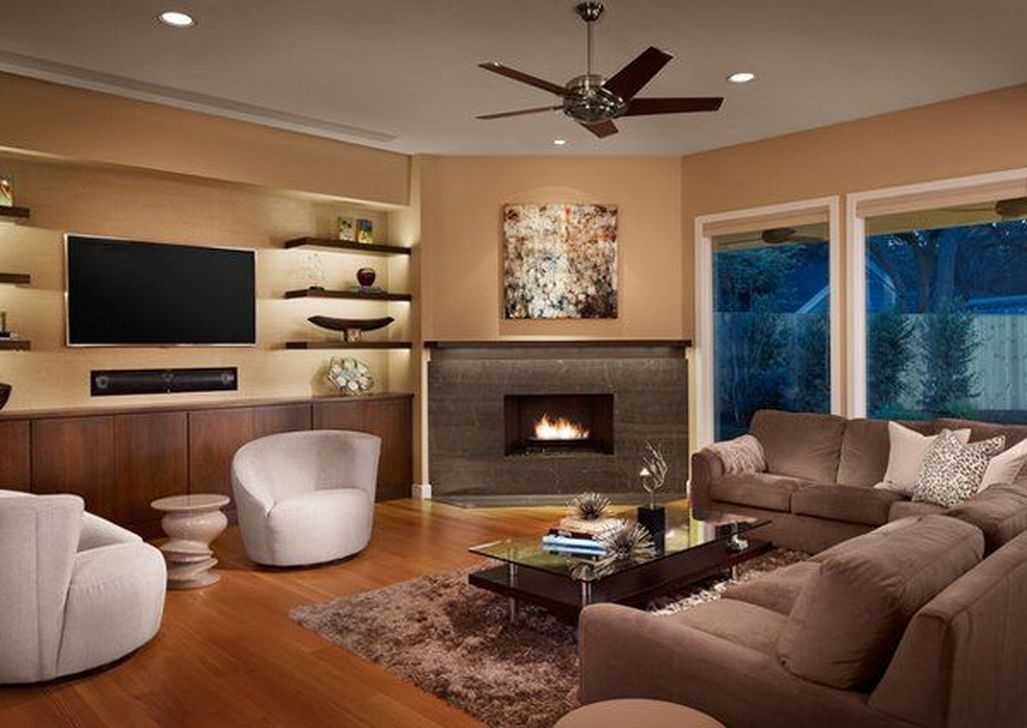Inspiring Corner Fireplace Ideas In The Living Room 08