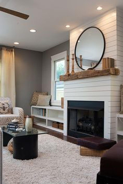 Inspiring Corner Fireplace Ideas In The Living Room 10