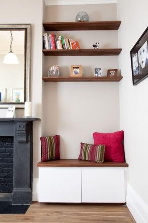 Inspiring Corner Fireplace Ideas In The Living Room 11