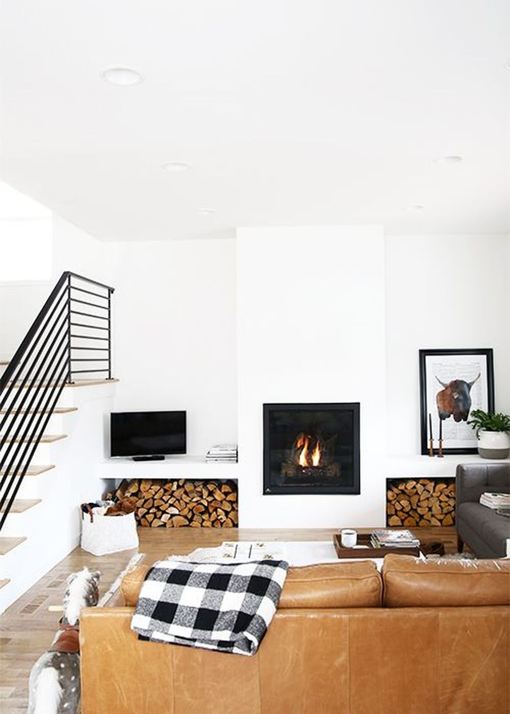 Inspiring Corner Fireplace Ideas In The Living Room 13