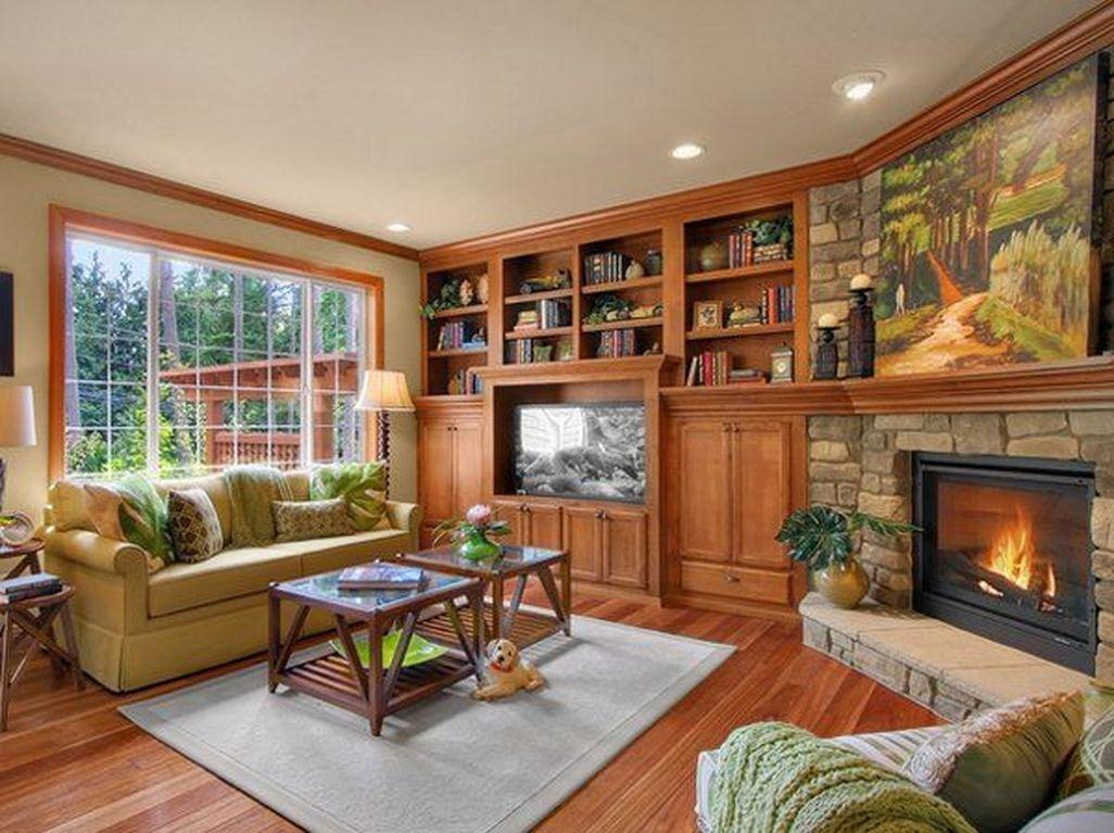 Inspiring Corner Fireplace Ideas In The Living Room 17