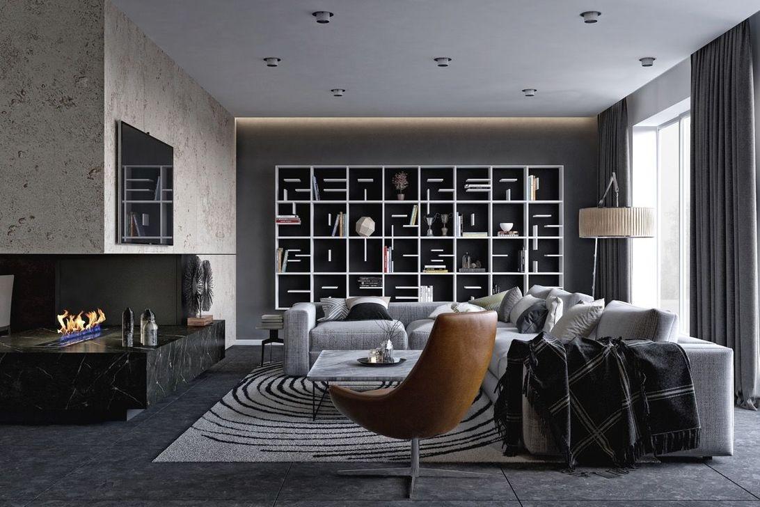 Inspiring Corner Fireplace Ideas In The Living Room 20
