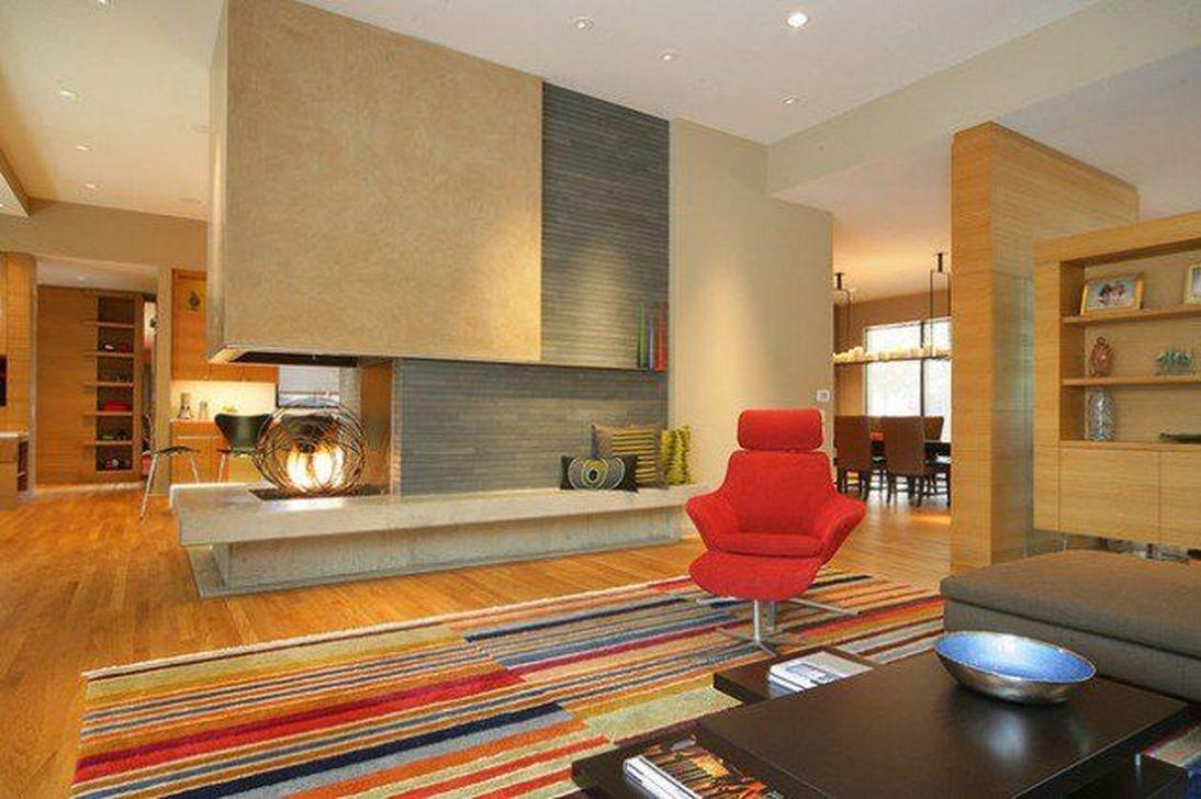 Inspiring Corner Fireplace Ideas In The Living Room 23
