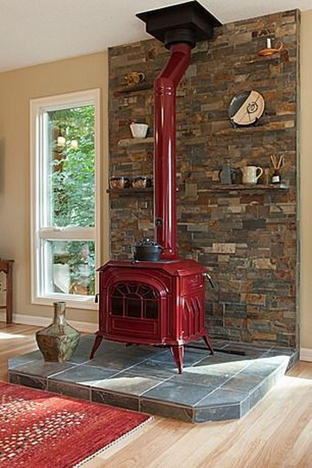 Inspiring Corner Fireplace Ideas In The Living Room 24