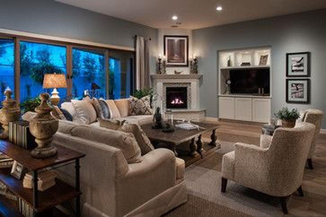 Inspiring Corner Fireplace Ideas In The Living Room 29