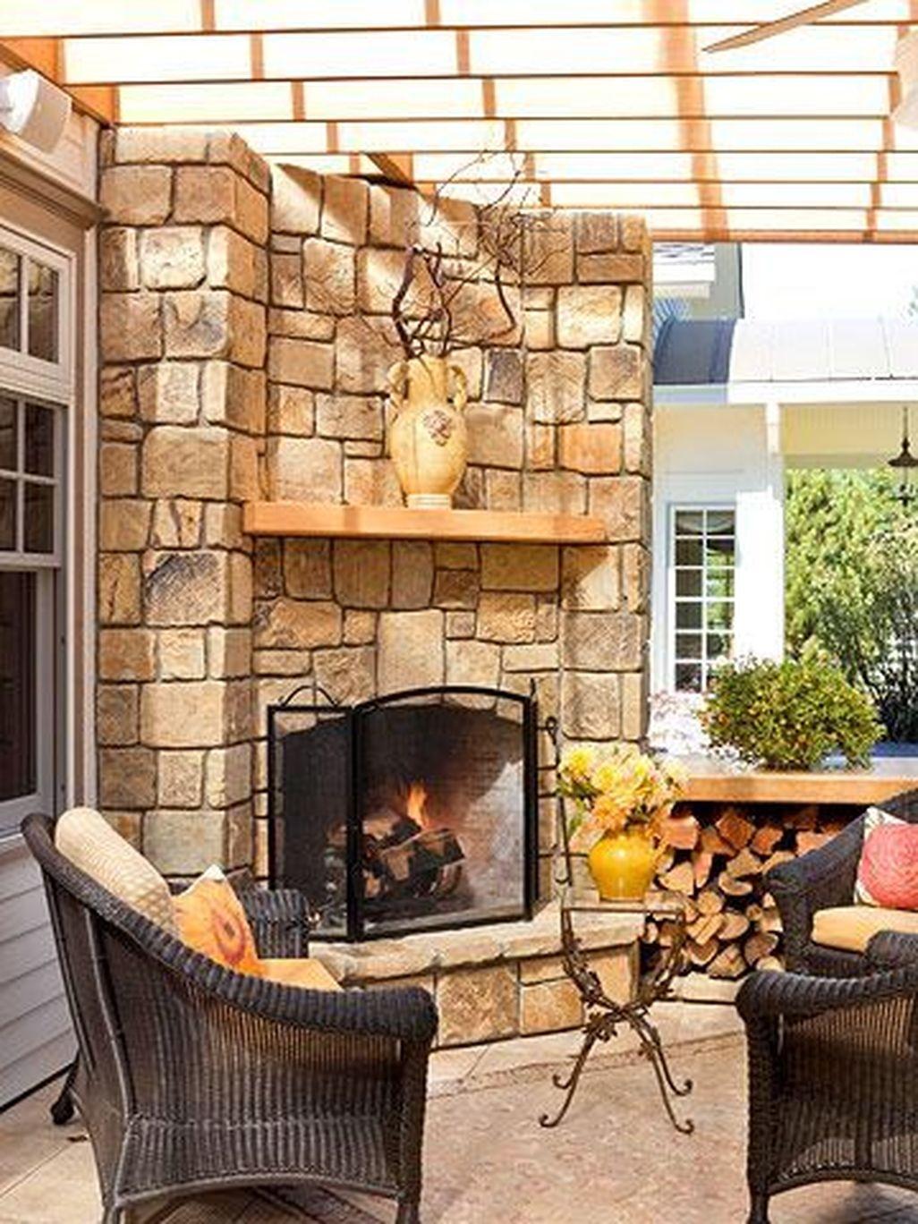 Inspiring Corner Fireplace Ideas In The Living Room 30