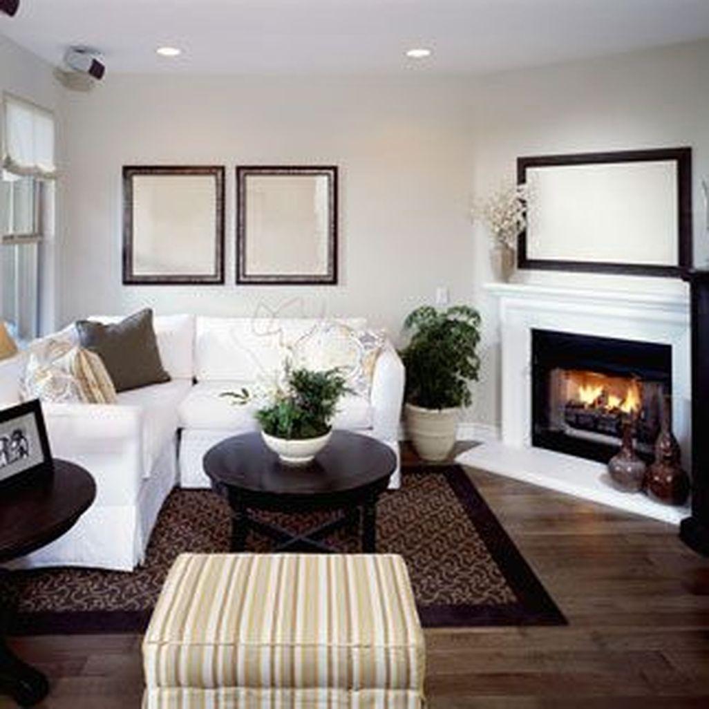 Inspiring Corner Fireplace Ideas In The Living Room 31