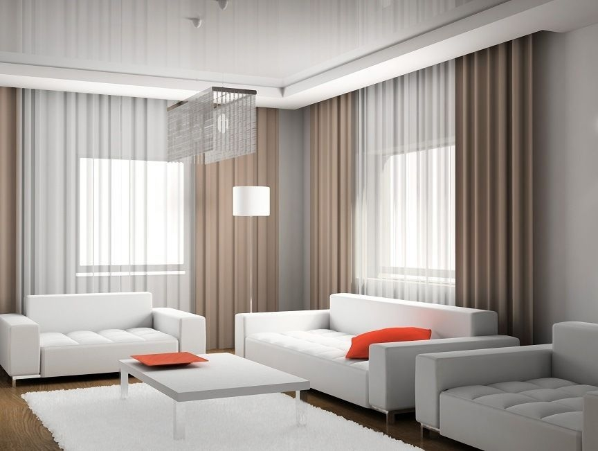 Modern Curtain Designs For Living Room 23