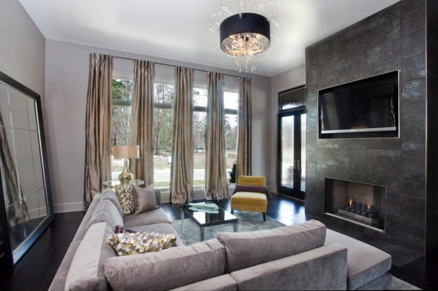 Modern Curtain Designs For Living Room 40
