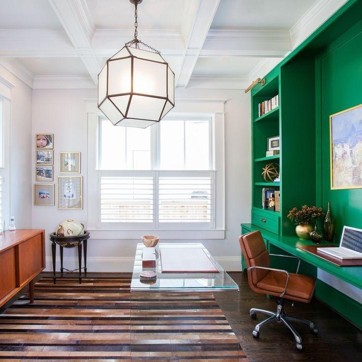 Relaxing Green Office Décor Ideas 07