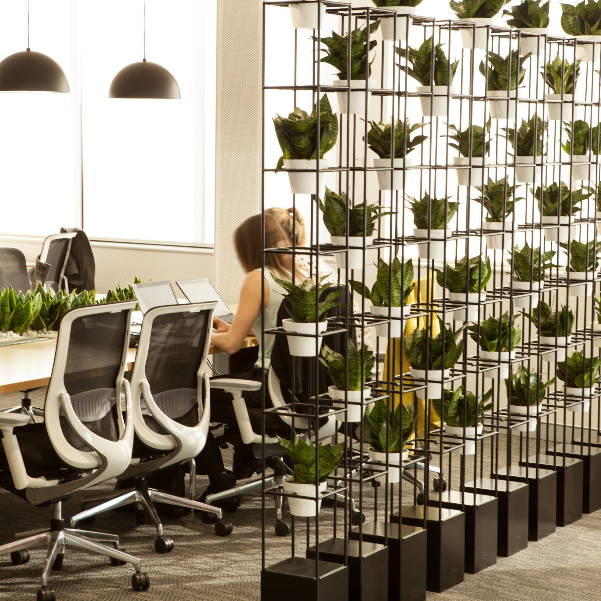 Relaxing Green Office Décor Ideas 13