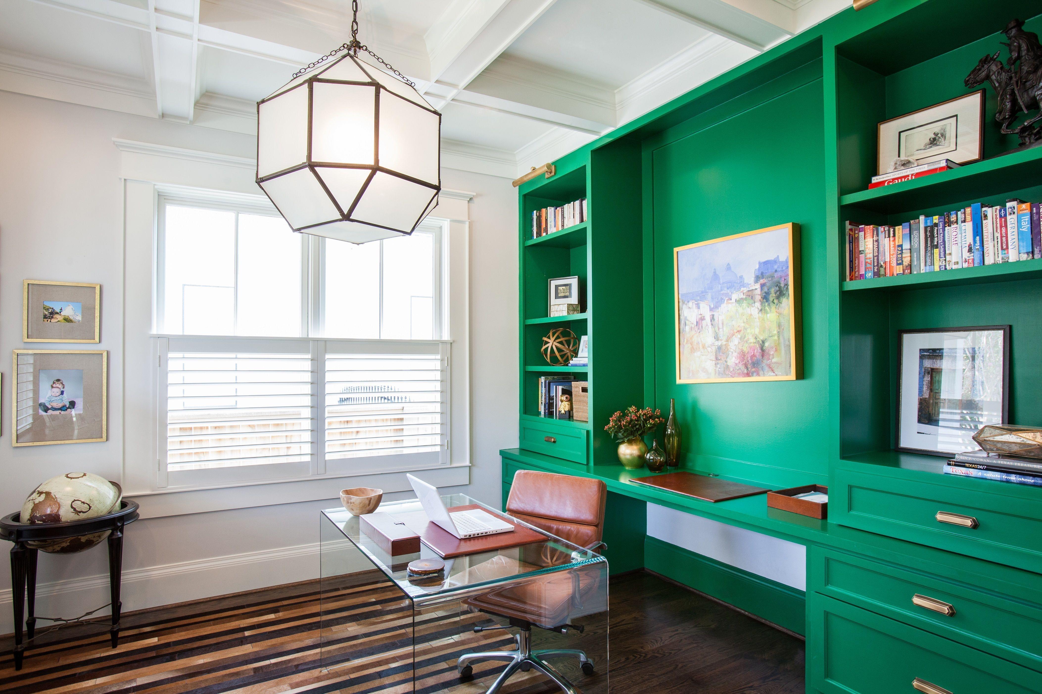 Relaxing Green Office Décor Ideas 16
