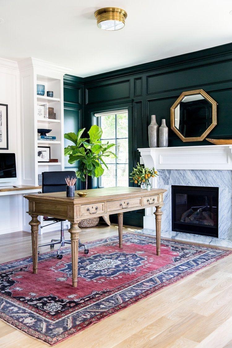 Relaxing Green Office Décor Ideas 19