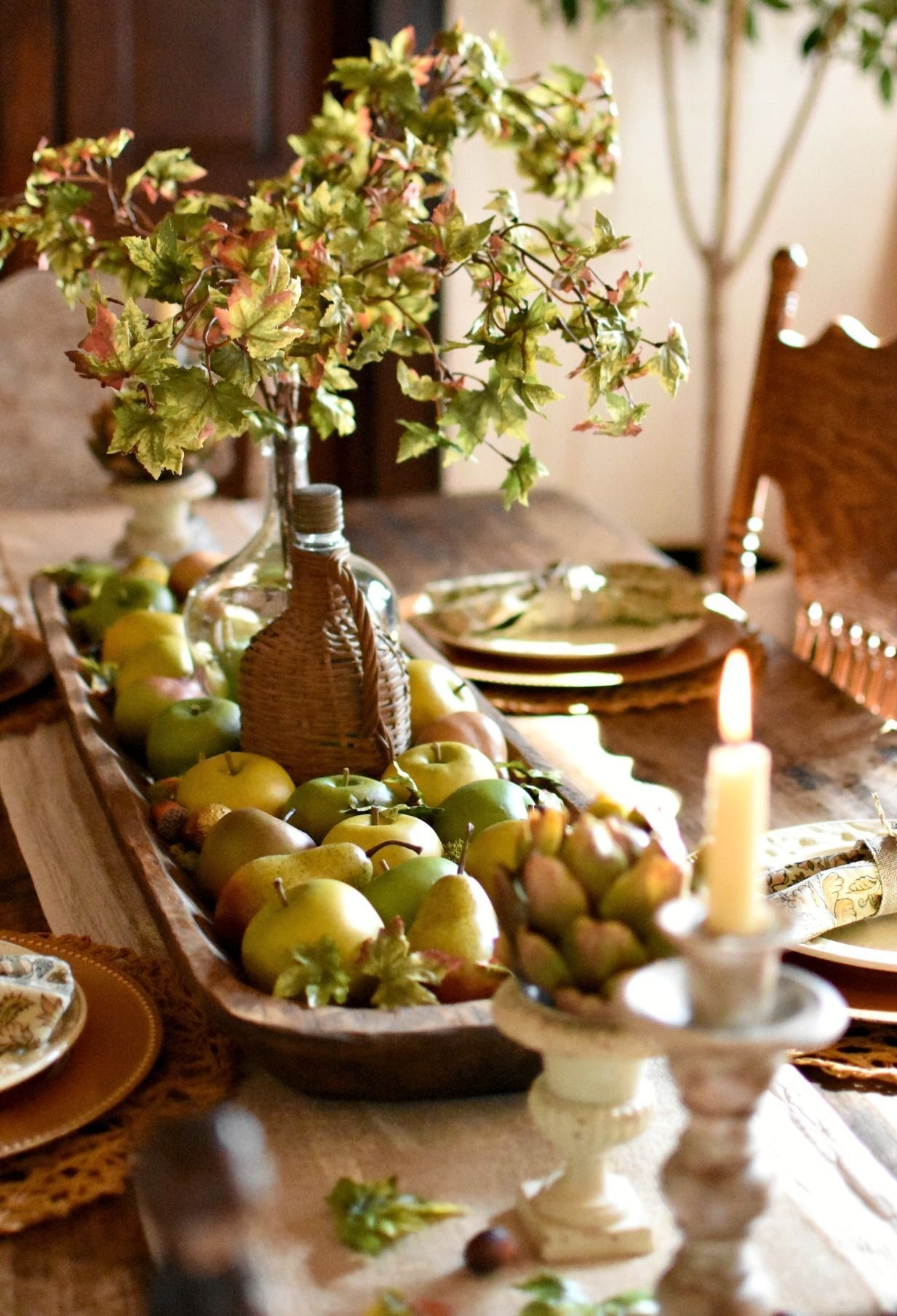 Awesome French Farmhouse Fall Table Design 30