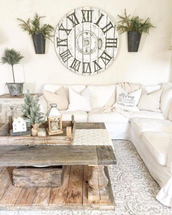 Comfy Rustic Living Room Decor Ideas 07