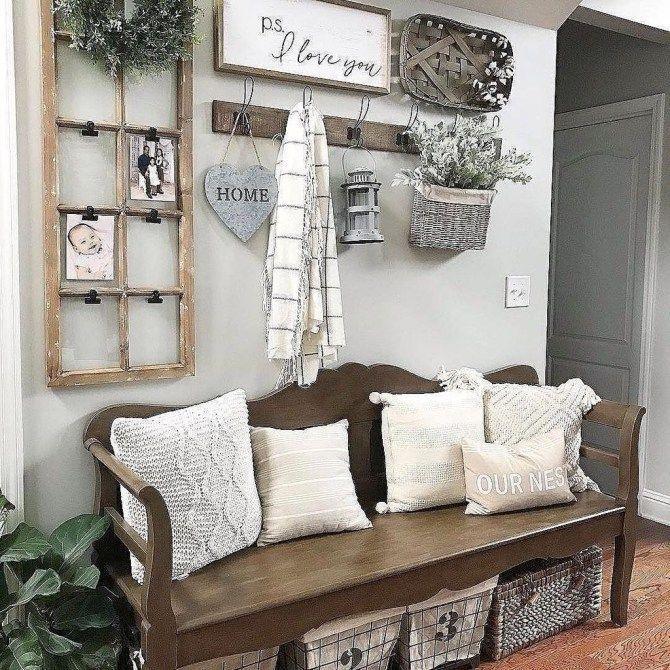 Comfy Rustic Living Room Decor Ideas 08