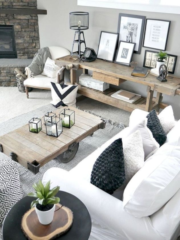 Comfy Rustic Living Room Decor Ideas 18
