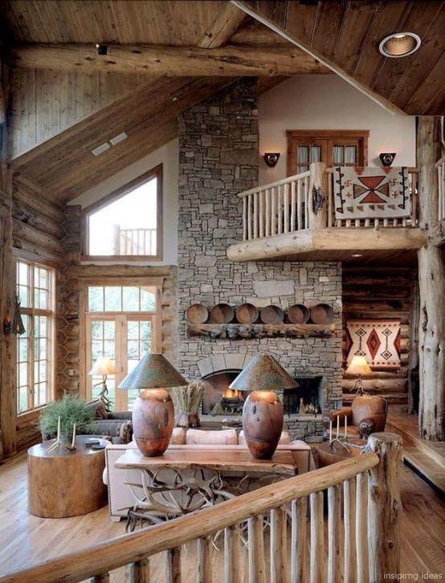 Comfy Rustic Living Room Decor Ideas 19