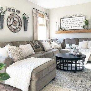 Comfy Rustic Living Room Decor Ideas 31