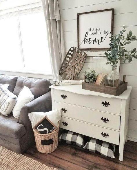 Comfy Rustic Living Room Decor Ideas 38