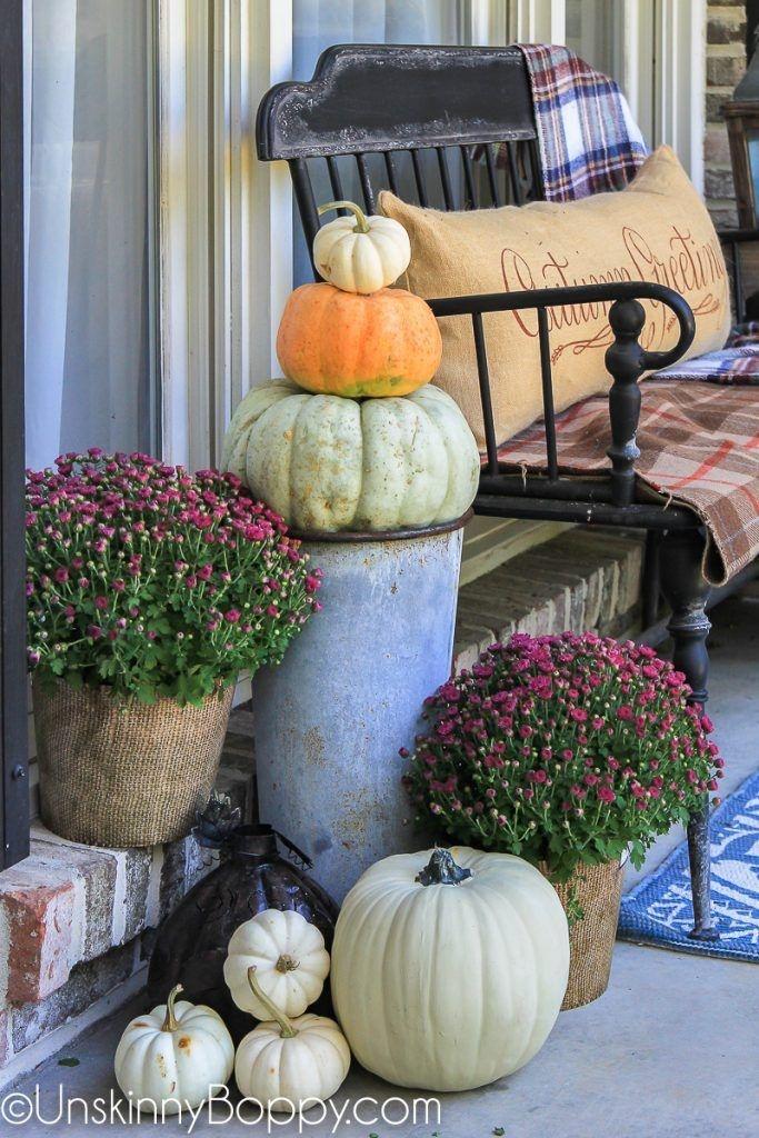 Cozy Fall Porch Farmhouse Style 11