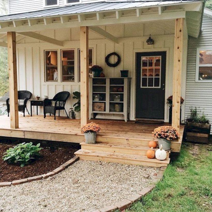 Cozy Fall Porch Farmhouse Style 24
