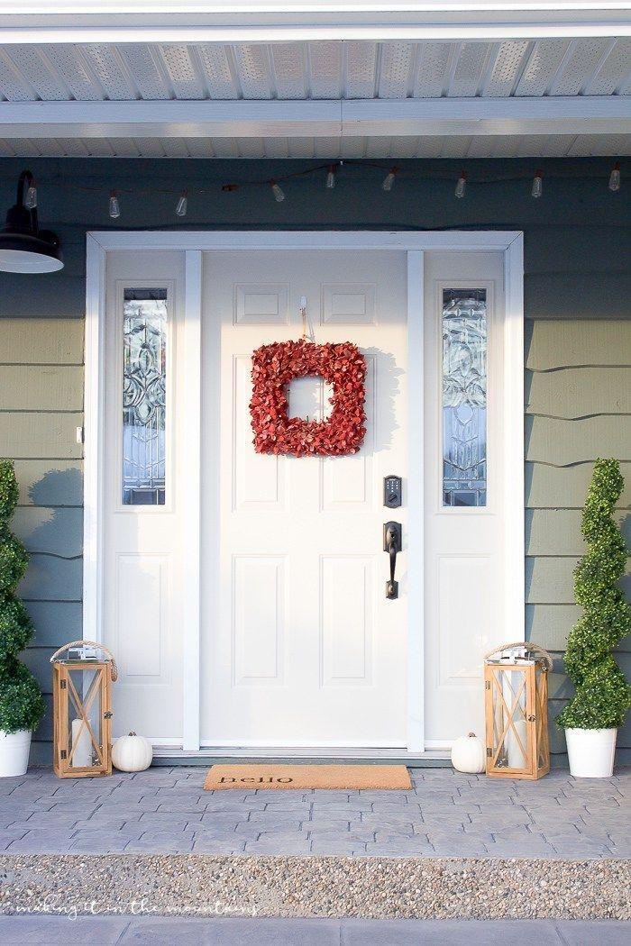 Cozy Fall Porch Farmhouse Style 25