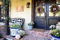 Cozy Fall Porch Farmhouse Style 38